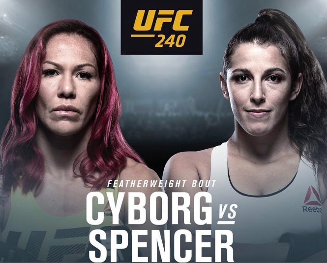 Cyborg Spencer UFC 240 Betting Odds
