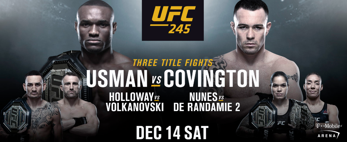 UFC 245 Preview Predictions & Odds