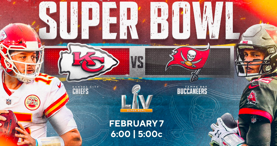 Chiefs vs Bucs set for Super Bowl 55