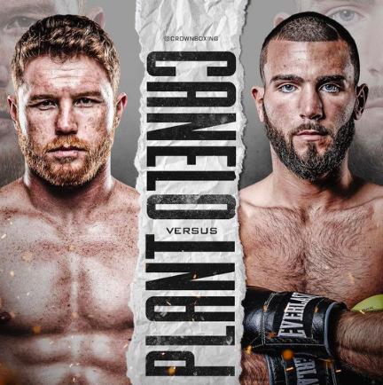 Saul 'Canelo' Alvarez vs. Caleb Plant - Fight Poster
